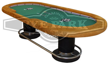 Camera Poker Table with Built-In Minicams, Custom Rail, and Custom Poker Layout