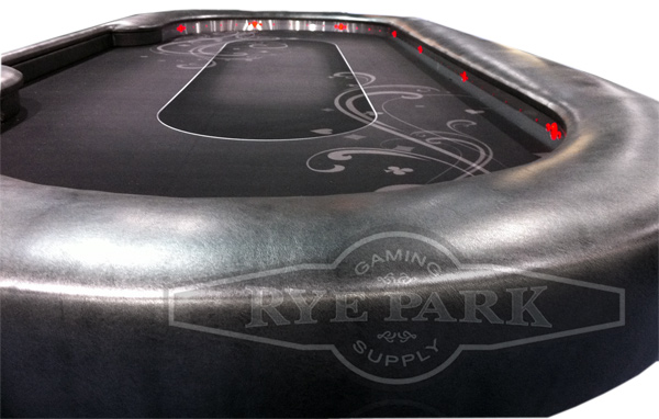 Custom Feature Poker Table 108 x 45 Rye Park Poker