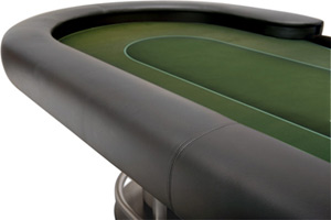 Custom Poker Table for your home - Raised Poker Rail